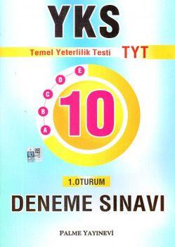 Palme Yayınları YKS 1. Oturum TYT 10 Deneme Sınavı