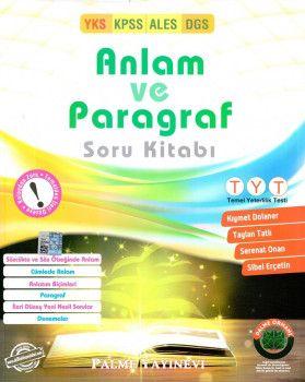 Palme Yayınları YKS KPSS ALES DGS Anlam ve Paragraf Soru Kitabı