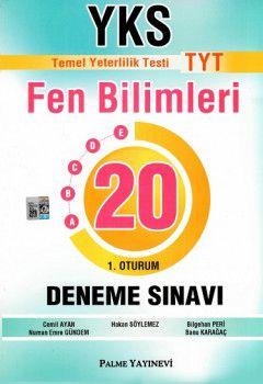 Palme Yayınları YKS 1. Oturum TYT Fen Bilimleri 20 Deneme Sınavı