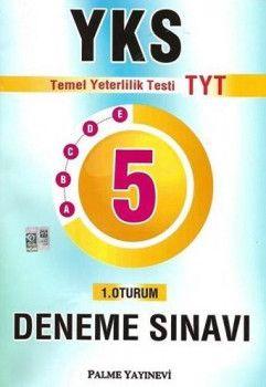 Palme Yayınları YKS 1. Oturum TYT 5 Deneme Sınavı