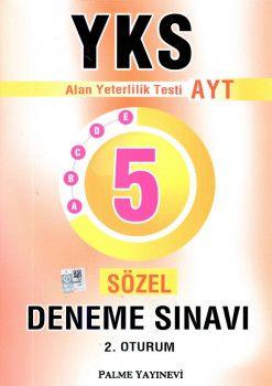 Palme Yayınları YKS 2. Oturum AYT Sözel 5 Deneme Sınavı