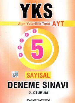 Palme Yayınları YKS 2. Oturum AYT Sayısal 5 Deneme Sınavı