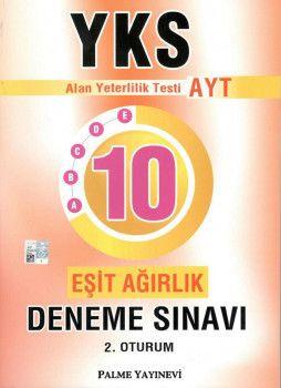 Palme Yayınları YKS 2. Oturum AYT Eşit Ağırlık 10 Deneme Sınavı
