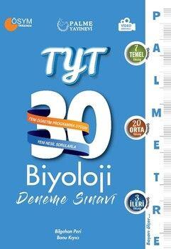 Palme YayınlarıTYT Biyoloji Palmetre Serisi 30 Deneme Video Çözümlü