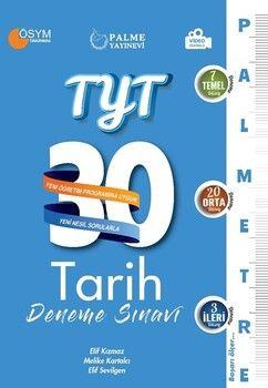 Palme YayınlarıTYT Tarih Palmetre Serisi 30 Deneme Video Çözümlü