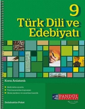 Pandül Yayınları 9. Sınıf Türk Dili ve Edebiyatı Defteri