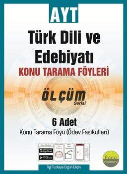 Pano Yayınları AYT Türk Dili ve Edebiyatı Konu Tarama Föyleri Ölçüm Serisi 6 Fasikül
