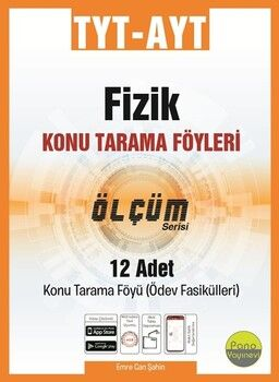 Pano Yayınları TYT AYT Fizik Konu Tarama Föyleri Ölçüm Serisi 12 Fasikül