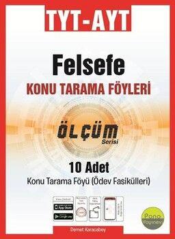Pano Yayınları TYT AYT Felsefe Konu Tarama Föyleri Ölçüm Serisi 10 Fasikül