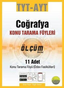Pano Yayınları TYT AYT Coğrafya Konu Tarama Föyleri Ölçüm Serisi 11 Fasikül