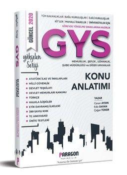Paragon Yayıncılık GYS Tüm Kurumlara Yönelik Memurluk-Şeflik-Müdürlük Uzmanlık ve Diğer Unvanlar İçin Konu Kitabı