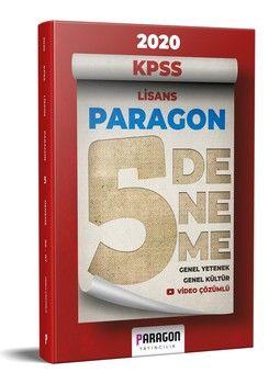 Paragon Yayıncılık 2020 KPSS Lisans Paragon Genel Yetenek Genel Kültür Tamamı Video Çözümlü 5 Deneme