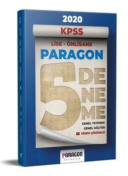 Paragon Yayıncılık 2020 KPSS Lise Önlisans Paragon Genel Yetenek Genel Kültür Tamamı Video Çözümlü 5 Deneme