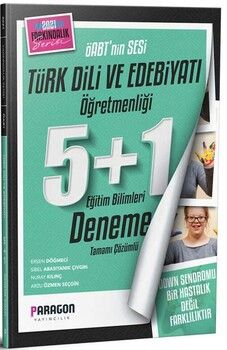 Paragon Yayıncılık 2021 ÖABT'nin Sesi Eğitim Bilimleri Türk Dili ve Edebiyatı Öğretmenliği 5+1 Deneme