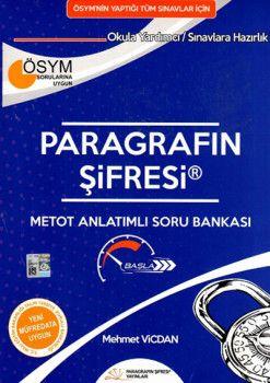 Paragrafın Şifresi YKS TYT KPSS ALES Metot Anlatımlı Soru Bankası Mehmet Vicdan