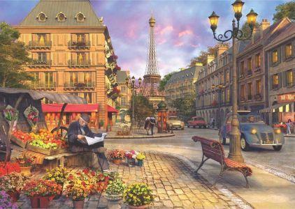 Paris Sokakları  Paris Street Life 1500 Parça Yapboz