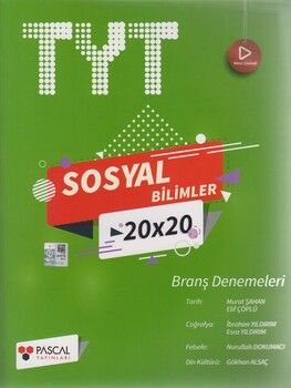 Pascal Yayınları TYT Sosyal Bilimler 20 x 20 Branş Denemeleri