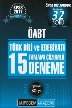 Pegem 2017 ÖABT Türk Dili ve Edebiyatı Tamamı Çözümlü 15 Deneme
