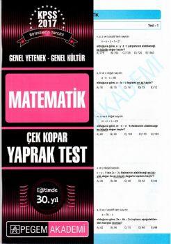 Pegem 2017 KPSS Genel Yetenek Genel Kültür Matematik Çek Kopar Yaprak Test