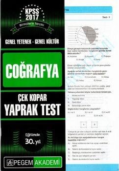 Pegem 2017 KPSS Genel Yetenek Genel Kültür Coğrafya Çek Kopar Yaprak Test