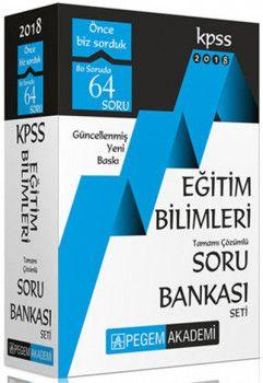 Pegem 2018 KPSS Eğitim Bilimleri Tamamı Çözümlü Modüler Soru Bankası Seti 6 Kitap + Kurultay Türkçe Konu HEDİYE