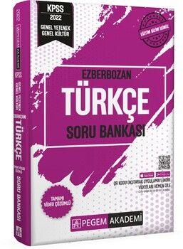 Pegem 2022 KPSS Genel Yetenek Genel Kültür Ezberbozan Türkçe Soru Bankası