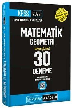 Pegem 2022 KPSS Matematik Geometri 30 Deneme