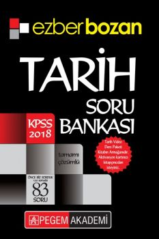 Pegem Akademi 2018 KPSS Ezberbozan Tarih Soru Bankası