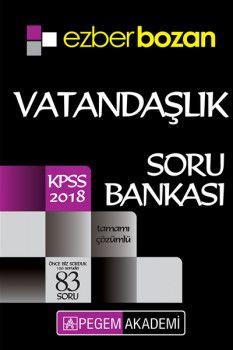Pegem Akademi 2018 KPSS Ezberbozan Vatandaşlık Tamamı Çözümlü Soru Bankası