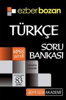 Pegem Akademi 2018 KPSS Ezberbozan Türkçe Soru Bankası