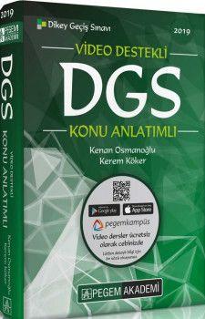 Pegem Akademi 2019 DGS Video Destekli Konu Anlatımlı