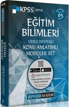 Pegem Akademi 2019 KPSS Eğitim Bilimleri Video Destekli Konu Anlatımlı Modüler Set 6 Kitap