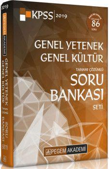 Pegem Akademi 2019 KPSS Genel Yetenek Genel Kültür Tamamı Çözümlü Soru Bankası Seti 5 Kitap