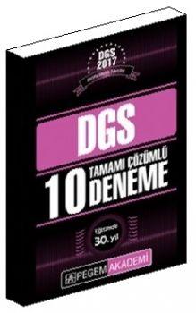 Pegem DGS 2017 Tamamı Çözümlü 10 Deneme