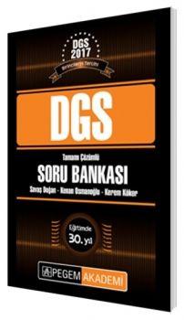 Pegem DGS Tamamı Çözümlü Soru Bankası