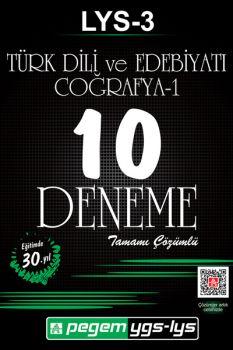 Pegem LYS 3 Türk Dili ve Edebiyatı Coğrafya 1 Tamamı Çözümlü 10 Deneme
