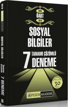 Pegem Yayınları 2019 KPSS ÖABT Sosyal Bilgiler Tamamı Çözümlü 7 Deneme