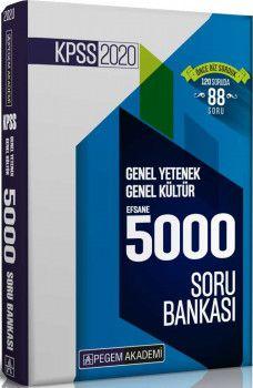 Pegem Yayınları 2020 KPSS Genel Yetenek Genel Kültür Efsane 5000 Soru Bankası