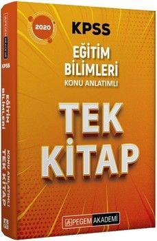 Pegem Yayınları 2020 KPSS Eğitim Bilimleri Konu Anlatımlı Tek Kitap