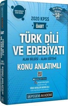 Pegem Yayınları 2020 KPSS ÖABT Türk Dili ve Edebiyatı Video Destekli Konu Anlatımlı