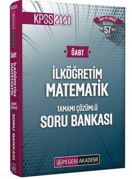 Pegem Yayınları 2020 KPSS ÖABT İlköğretim Matematik Tamamı Çözümlü Soru Bankası