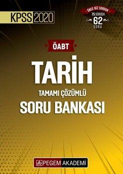 Pegem Yayınları 2020 KPSS ÖABT Tarih Soru Bankası