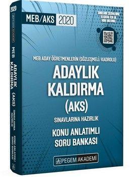 Pegem Yayınları 2020 Meb Aday Öğretmenleri Adaylık Kaldırma Sınavlarına Hazırlık Konu Anlatımlı Soru Bankası