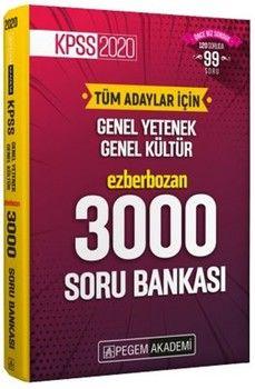 Pegem Yayınları 2020 KPSS Lisans Ezberbozan 3000 Soru Bankası