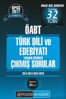 Pegem Yayınları 2017 KPSS ÖABT Türk Dili ve Edebiyatı Tamamı Çözümlü Çıkmış Sorular