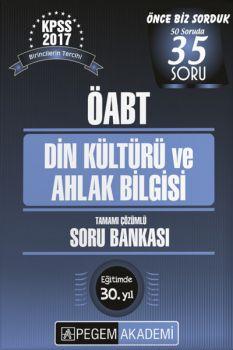 Pegem Yayınları 2017 KPSS ÖABT Din Kültürü ve Ahlak Bilgisi Öğretmenliği Tamamı Çözümlü Soru Bankası
