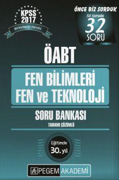 Pegem Yayınları 2017 ÖABT Fen Bilimleri Fen ve Teknoloji Tamamı Çözümlü Soru Bankası Seti