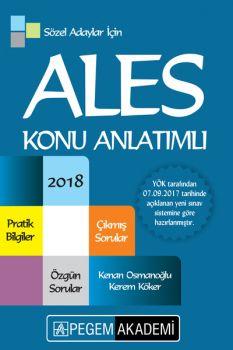Pegem Yayınları 2018 ALES Sözel Adaylar için Konu Anlatımlı