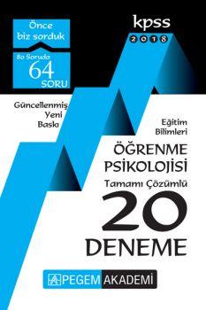 Pegem Yayınları 2018 Eğitim Bilimleri Öğrenme Psikolojisi Tamamı Çözümlü 20 Deneme