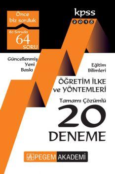 Pegem Yayınları 2018 Eğitim Bilimleri Öğretim İlke ve Yöntemleri Tamamı Çözümlü 20 Deneme